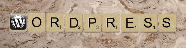 "the word ""Wordpress"" spelled in Scrabble tiles"